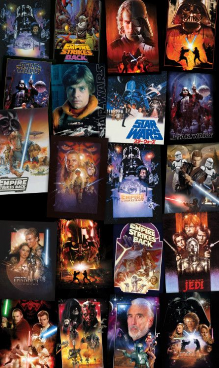 Non-woven photomural Star Wars Posters Collage